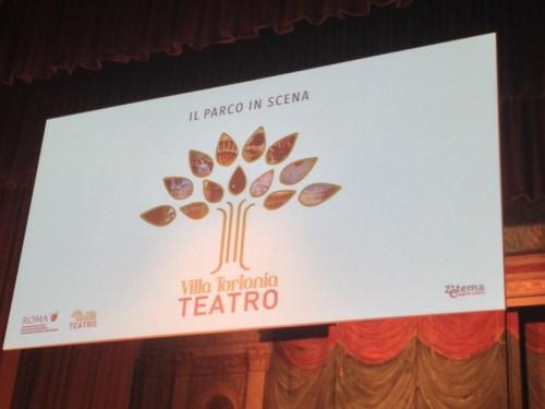 Il logo ufficiale del teatro di Villa Torlonia