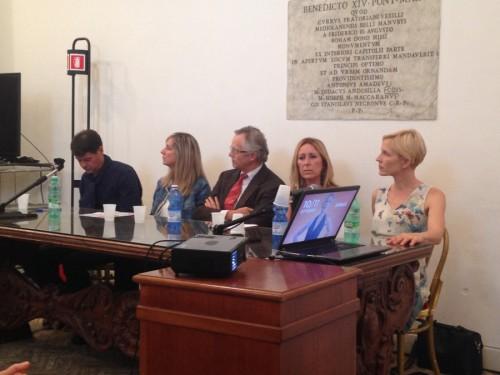 Gaia de Laurentiis durante la conferenza stampa di presentazione del Gluten Free Days