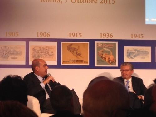Nicola Zingaretti (a sinistra) con Paolo Gentilini