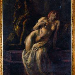 Gaetano Previati Cleopatra, 1903 Olio su tela, 165 x 145 cm Courtesy Archivio Giovanni Rebolini