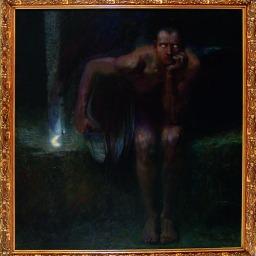 Franz von Stuck Lucifero, 1891 Olio su tela, 161 x 152 cm Sofia, The National Gallery © National Gallery, Sofia
