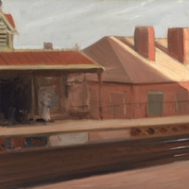 Edward Hopper (1882 1967) The El Station 1908 Olio su tela, 51,4x74,5 cm New York, Whitney Museum of American Art; Lascito di Josephine N. Hopper © Heirs of Josephine N. Hopper, Licensed by Whitney Museum of American Art