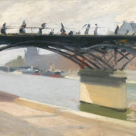 Edward Hopper (1882 1967) Le Pont des Arts 1907 Olio su tela, 60,2x73,2 cm New York, Whitney Museum of American Art; Lascito di Josephine N. Hopper © Heirs of Josephine N. Hopper, Licensed by Whitney Museum of American Art