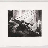 Edward Hopper (1882 1967) The Balcony (La balconata) 1928 Puntasecca, foglio (irregolare), 33x43 cm New York, Whitney Museum of American Art; Lascito di Josephine N. Hopper © Heirs of Josephine N. Hopper, Licensed by Whitney Museum of American Art