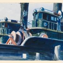 Edward Hopper (1882 1967) Two Trawlers (Due pescherecci) 1923-1924 Acquerello e grafite su carta, foglio 35,2x50,6 cm New York, Whitney Museum of American Art; Lascito di Josephine N. Hopper © Heirs of Josephine N. Hopper, Licensed by Whitney Museum of American Art