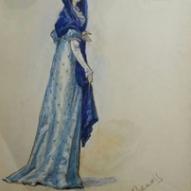 20_Nicola Benois, Figurino per Tosca, atto I, 1975 (Callas) ©