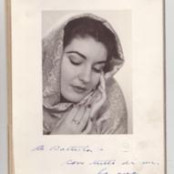 23_Ritratto fotografico di Maria Callas con dedica a Giovanni Battista Meneghini, 1947 ©