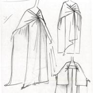 8_Figurino di Alain Reynaud (Biki) per l'abito del concerto di Maria Callas all'Opèra a Parigi, 1958 ©