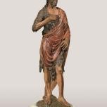 Francesco da Sangallo (Firenze 1494 – 1576) San Giovanni battista 1515-1520 circa Legno intagliato e dipinto, Bivigliano (Firenze), pieve di San Romolo