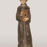 Bartolomeo Bellano (Padova 1434 circa – 1496 o 1497) San Bernardino da Siena 1450-1455 circa Legno intagliato dipinto e dorato, Padova, chiesa dei Santi Filippo e Giacomo agli Eremitani