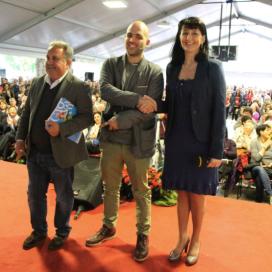 Roberto Saviano, ospite nel 2015, con Adriano Ossola e Chiara Mio