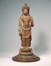 Kannon a undici teste (Ekādaśamukha Avalokiteśvara) Periodo Heian, VIII secolo Legno parzialmente dipinto, altezza 42,8 cm. Nara National Museum Importante proprietà culturale