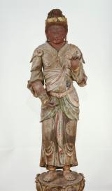 Bonten (Brahmā) Testa: periodo Nara, VIII secolo, corpo: periodo Kamakura, 1289 Testa: lacca secca dipinta, corpo: legno dipinto, altezza 205 cm. Akishinodera, Nara Importante proprietà culturale