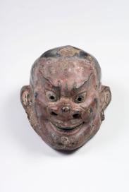 Shōri no Uonari Maschera gigaku (lacca secca) Periodo Nara, 752 Lacca secca dipinta, altezza 31,2 cm. Bunkachō (Agency for Cultural Affairs) Importante proprietà culturale