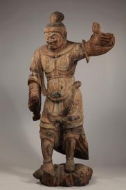 Sovrano celeste Periodo Heian, X secolo Legno dipinto, altezza 178,4 cm. Bunkachō (Agency for Cultural Affairs) Importante proprietà culturale