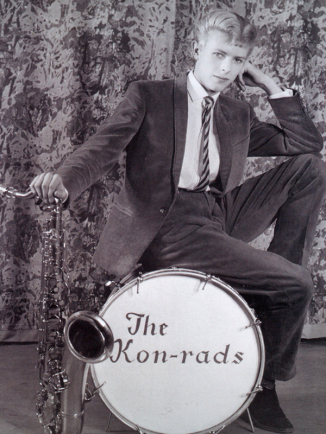 Promotional shoot from the Kon-rads, 1963, Photograph by Roy Ainsworth, Courtesy of the David Bowie Archive 2012 Image © V&A Images