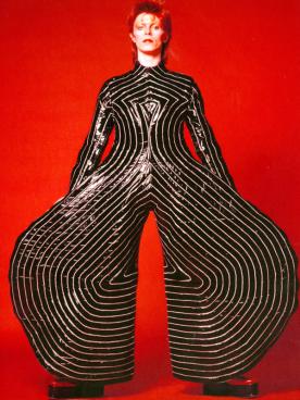 Striped bodysuit for Aladdin Sane tour, 1973 Design by Kansai Yamamoto Photograph by Masayoshi Sukita © Sukita / The David Bowie Archive 2012.