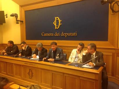 Da sinistra: Sergio Cerruti, Federico Amico, Vincenzo Spera, Enzo Mazza, Luca Fornari e Mario Limongelli