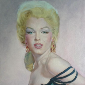 Marilyn Monroe dipinta da Enzo Nistri - © Cinema a Pennello (https://www.facebook.com/cinemaapennello/home)