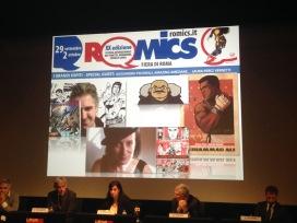 Un momento della conferenza di stamattina di Romics 2016