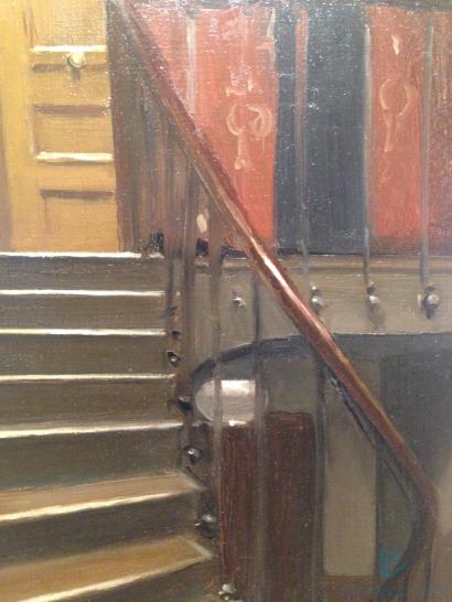 Edward Hopper (1882 1967)Stairway at 48 rue de Lille, Paris(Scale del 48 di rue de Lille, Parigi)1906Olio su tavola, 32,7x23,7 cmNew York, Whitney Museum of American Art; Lascito di Josephine N. Hopper© Heirs of Josephine N. Hopper, Licensedby Whitney Museum of American Art (particolare)