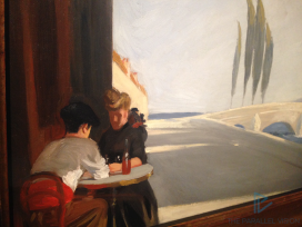Edward Hopper (1882 1967)Le Bistro or The Wine Shop(La bottega del vino)1909Olio su tela, 61x 73,3 cmNew York, Whitney Museum of American Art; Lascito di Josephine N. Hopper© Heirs of Josephine N. Hopper, Licensed by Whitney Museum of American Art (particolare)