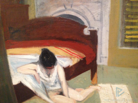 Edward Hopper (1882 1967)Summer Interior(Interno d'estate)1909Olio su tela, 61,6x74,1 cmNew York, Whitney Museum of American Art; Lascito di Josephine N. Hopper© Heirs of Josephine N. Hopper, Licensedby Whitney Museum of American Art (particolare)