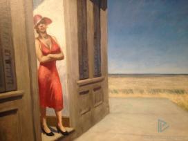 Edward Hopper (1882 1967)South Carolina Morning(Mattino in South Carolina)1955Olio su tela, 77,2x102,2 cmNew York, Whitney Museum of American Art;donato in memoria diOtto L. Spaeth dalla sua famiglia © Whitney Museum of American Art, N.Y. (particolare)