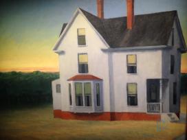 Edward Hopper (1882 1967)Cape Cod Sunset(Tramonto a Cape Cod)1934Olio su tela, 74x 92,1 cmNew York, Whitney Museum of American Art; Lascito di Josephine N. Hopper© Heirs of Josephine N. Hopper, Licensedby Whitney Museum of American Art (particolare)