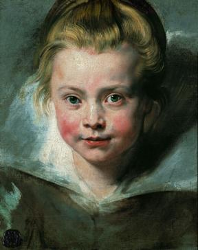 Ritratto della figlia Clara Serena 1615 - 1616 Olio su tela applicata su tavola 33x26,3 cm. Vienna, Palazzo Liechtenstein - The Princely Collections