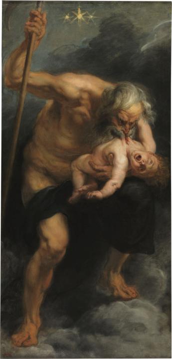 Saturno che divora uno dei suoi figli 1636 - 1638 Olio su tela 182,5x87 cm. Madrid, Museo del Prado