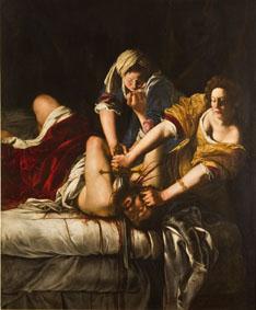 Artemisia Gentileschi Giuditta che decapita Oloferne, 1620-21 ca. Olio su tela, 199x162,5 cm Firenze, Gallerie degli Uffizi © Gabinetto Fotografico delle Gallerie degli Uffizi