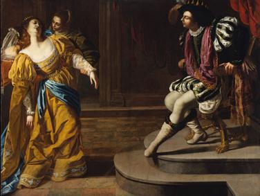 Artemisia Gentileschi Ester e Assuero, 1626-29 ca. Olio su tela, 208,3×273,7 cm Lent by The Metropolitan Museum of Art, gift of Elinor Torrance Ingersoll, 1969 © The Metropolitan Museum of Art