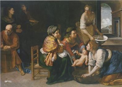 Artemisia Gentileschi Nascita di san Giovanni Battista, 1635 ca. Olio su tela, 184x258 cm Madrid, Museo Nacional del Prado © Museo Nacional del Prado