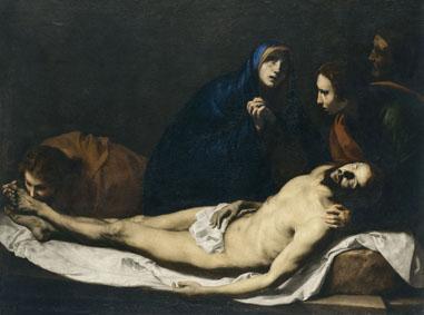 Jusepe de Ribera Compianto su Cristo morto (Pietà), 1633 Olio su tela, 157x210 cm Madrid, Museo Thyssen-Bornemisza © Museo Thyssen-Bornemisza, Madrid