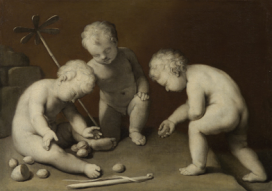 Bambini che giocano, XVII secolo Pittura a grisaille, tela, H 70 cm, L 98 cm Vienna, Kunsthistorisches Museum, Gemäldegalerie ©