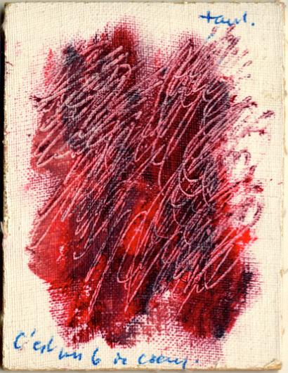 Jean Fautrier, Sei di cuori olio su cartone telato