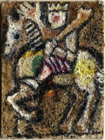 Franco Gentilini, Cavallo di bastoni olio su cartone telato