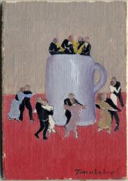Francesco Trombadori, Asso di coppe olio su cartone telato