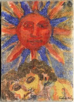 Carlo Levi, Carta dei tarocchi, arcano maggiore, il Sole tempera
