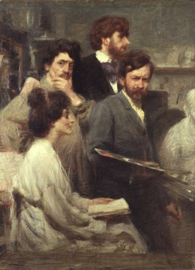 Giacomo Balla Nello specchio, 1902 olio su tela cm. 137,5x100,5 Galleria Nazionale d'arte moderna e contemporanea