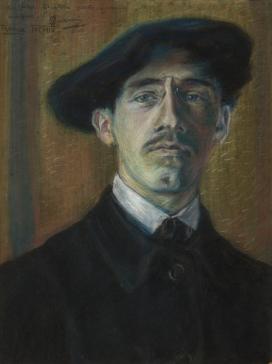 Gino Severini Autoritratto, 1904 pastello su carta cm. 30x22,5 Collezione privata, Roma