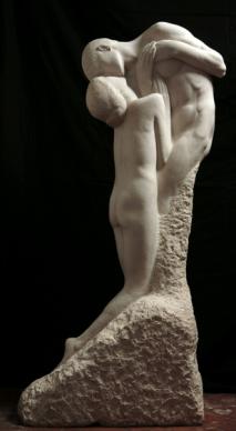 Giovanni Prini Amanti, 1909c. marmo h cm. 180 Galleria d'arte moderna, Roma