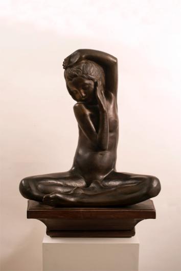 Giovanni Prini Idoletto, 1925 Bronzo, base in legno cm. 65,5x57,5x38 Collezione privata, Roma