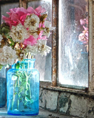 """Vera Rossi, """"Vaso blu con oleandri"""""""