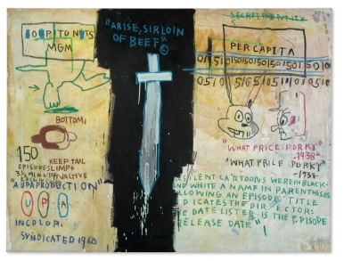 BASQUIAT, JEAN-MICHEL 2690 B351 Job Analisis 1983 Acrylic and oilstick on canvas 55.75 x 74 in. ©