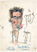 BASQUIAT, JEAN-MICHEL 1956 B265 John Lurie 1982 Oil stick on paper 42.75 x 30.125 in. ©