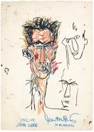 BASQUIAT, JEAN-MICHEL 1956 B265 John Lurie 1982 Oil stick on paper 42.75 x 30.125 in. ©