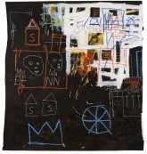 BASQUIAT, JEAN-MICHEL 5152 B333 Untitled 1981 Acrylic, oilstick and chalk on paper 59 x 54 in. ©