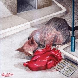 Ciampi - Adius Ma ti chiedo una tregua Prima Dell'attacco finale Perché un cuore giace inerte Rossastro sulla strada E un gatto se lo mangia.